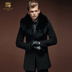 Wonderland - Fur Hooded Wool Coat
