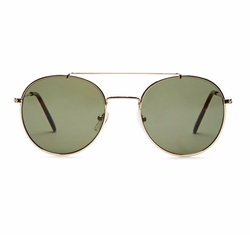 21 Men - Rounded Aviator Sunglasses