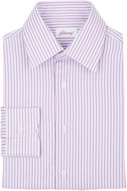Brioni  - Stripe Twill Shirt