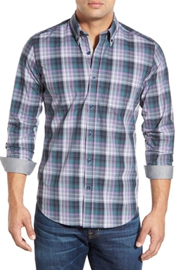 O By Oscar De La Renta  - Classic Fit Plaid Sport Shirt