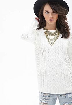 Forever 21 - Mixed Knit Sweater