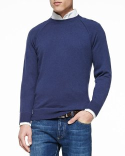 Brunello Cucinelli  - Felpa Cashmere Long-Sleeve Sweater