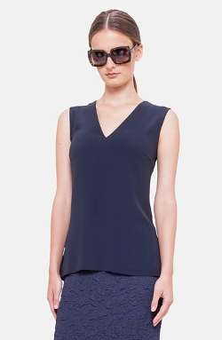 Akris Punto - Back Peplum Tank Top