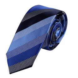 Epoint - Great Striped Mens Multicolors Silk Skinny Tie