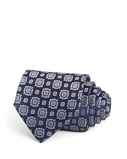 Armani Collezioni - Floral Medallion Jacquard Tie