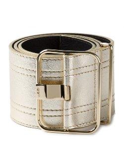 miller neiman metallic leather belt from
