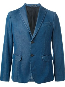 Andrea Incontri - Two Button Denim Blazer