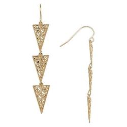 Target - Triple Triangle Drop Earrings