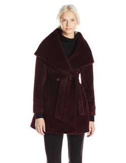 Trina Turk - Grace Wool-Blend Belted Wrap Coat