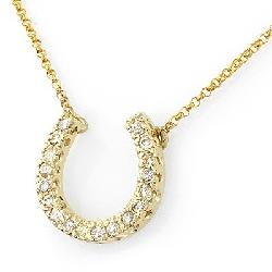 I Do Bands - Diamond Horseshoe Necklace in 14k Yellow Gold