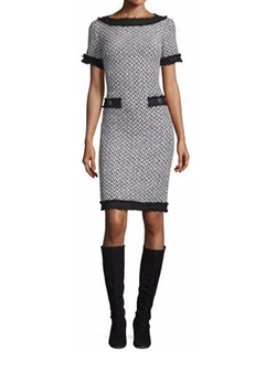 St. John - Collection Tweed Short-Sleeve Dress