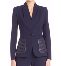 Escada  - Leather-Pocket Blazer