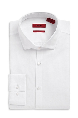 Hugo Boss - Spread Collar Cotton Dress Shirt