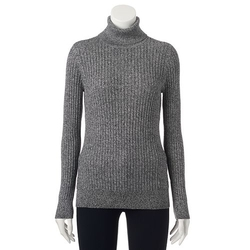 Croft & Barrow - Ribbed Turtleneck Sweater