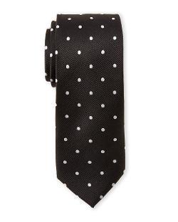 Pierre Cardin  - Silk Polka Dot Slim Tie