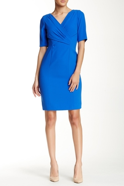 Tahari - Crepe Sheath Dress