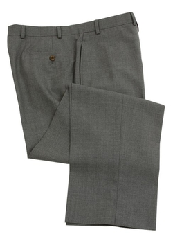 Ralph Lauren - Flat Front Solid Medium Gray Wool Dress Pants