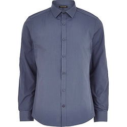 River Island - Blue Long Sleeve Shirt