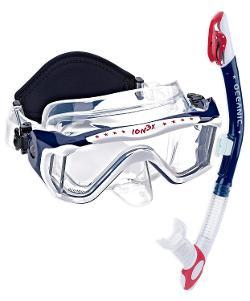 Oceanic  - Ion 3X Scuba Snorkeling Dive Mask & Ultra Dry Snorkel Set