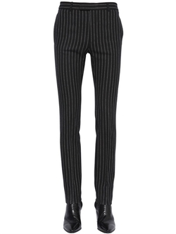 Saint Laurent - Striped Wool Flannel Pants