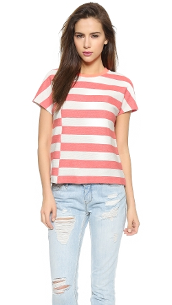 Tory Burch  - Short Sleeve Striped Top