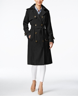 London Fog  - Double-Breasted Long Trench Coat