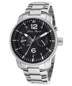 Lucien Piccard  - Expeditor Stainless Steel Black Dial Watch