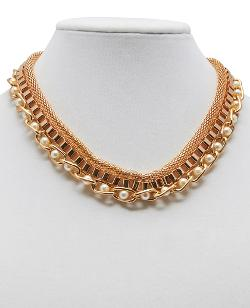 Wet Seal - Pearls & Chains Necklace Set