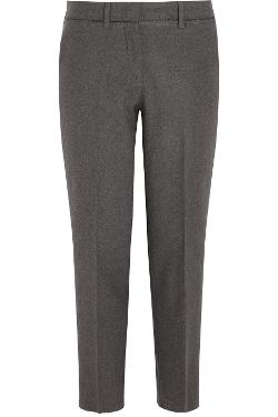 Miu Miu - Cropped stretch-wool felt straight-leg pants
