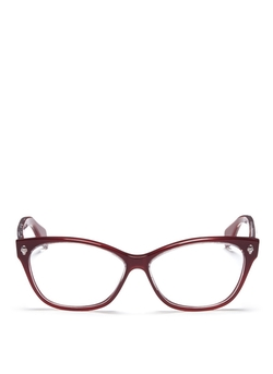 Alexander McQueen  - Skull Stud Square Cat Eye Optical Glasses