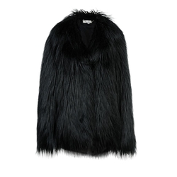 Stella McCartney - Black Fur Free Fur Dan Coat