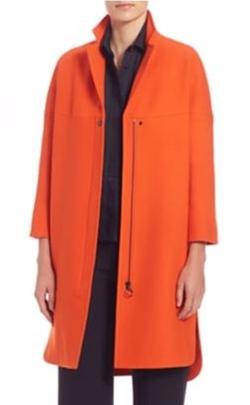 Akris Punto  - Stand Collar Wool Coat