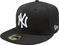 New Era - New York Yankees Black with White 59FIFTY Fitted Cap