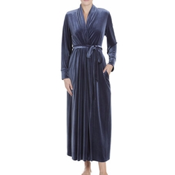 Jonquil - Stormy Skies Long Velvet Robe