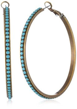 "Liz Palacios  - ""Circulo"" Crystal Hoop Earrings"