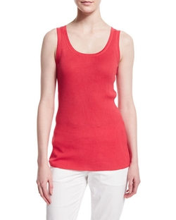 Magaschoni  - Scoop-Neck Ribbed Tank Top
