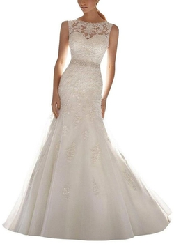 G Marry - Mermaid Lace Wedding Dress