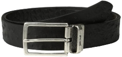 Just Cavalli - Ostrich Embossed Leather Belt