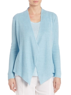 Eileen Fisher  - Linen Angled-Front Cardigan
