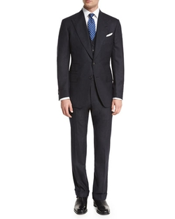 Tom Ford  - Extra-Light Flannel Pinstripe Three Piece Suit