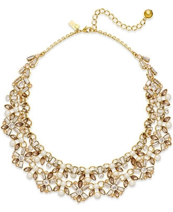 Kate Spade New York  - Pearl And Crystal Statement Necklace