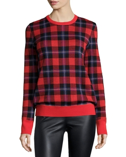 Equipment  - Shane Long-Sleeve Plaid Sweater