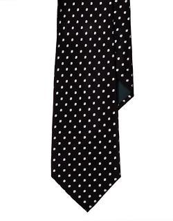 Lauren Ralph Lauren  - Dotted Silk Satin Tie