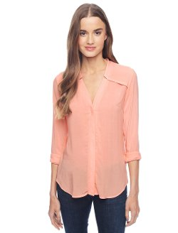 Splendid - Long Sleeve Button Down Shirt