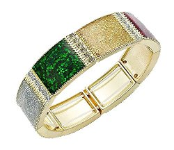 Charter Club - Glitter Tile Stretch Bracelet