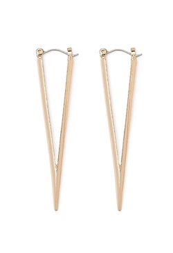 Forever21 - Cutout Triangle Drop Earrings