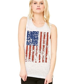 Christmas Ugly Sweater Co - American Flag Muscle Tank Top