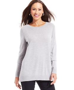 Charter Club - Merino Wool Boat Neck Tunic Sweater
