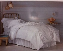 Shabby Chic - Pieced Lace Mesh Duvet and Sham