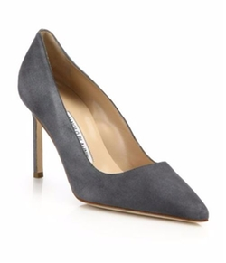 Manolo Blahnik  - BB 90 Suede Point-Toe Pumps